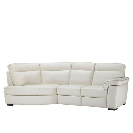 B757 Brivido Leather RHF 2.5-Seater With LHF Terminal White