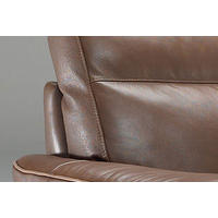 B757 Brivido Large Leather Armchair Brown