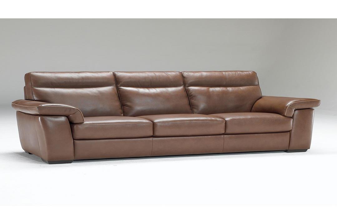 B757 Brivido Large Leather Sofa Brown