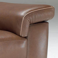B757 Brivido Large Leather Sofa Brown