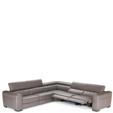 B790 Forza Large LHF Corner Group With Recliners 10BT Brown