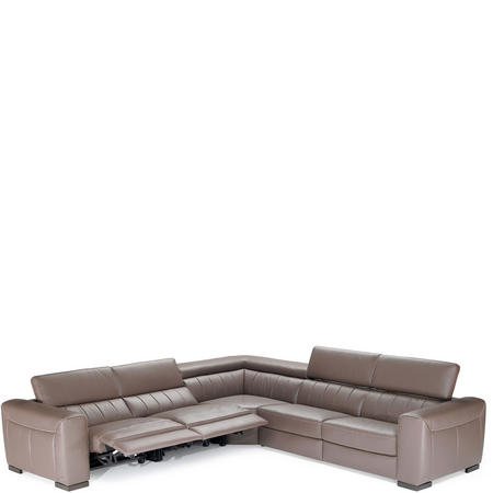 B790 Forza Large RHF Corner Group With Recliners 10BT Brown