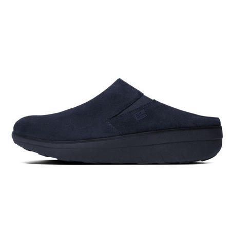 Loaff Suede Clogs Navy