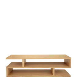 Balance Coffee Table Oak Finish