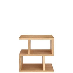Balance Side Table Oak Finish