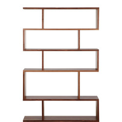 Balance Tall Shelving Walnut Finish