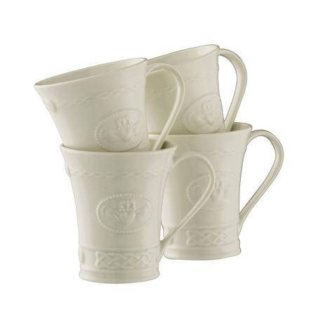 Living Claddagh Mugs Set of 4