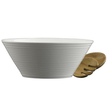 Living Ripple Salad Bowl & Servers