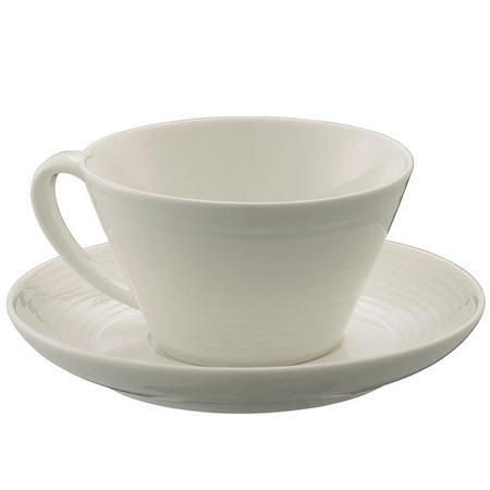Living Ripple Teacup & Saucer 4 Piece Set