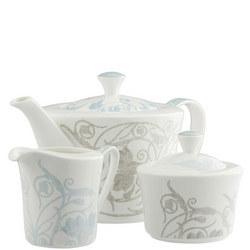 Living Novello Teapot, Sugar & Cream