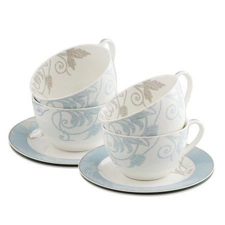 Living Novello Teacup & Saucer 4 Piece Set
