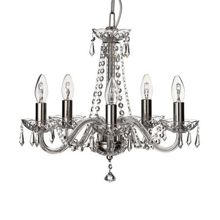 Crystal Living Cashel 5 Arm Chandelier