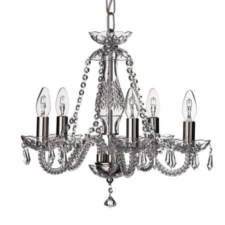 Crystal Living Leenane 5 Arm Chandelier
