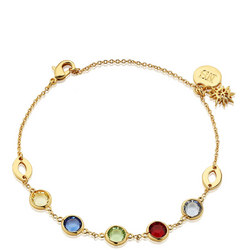 Amy Huberman Bracelet with Multi Coloured Stones