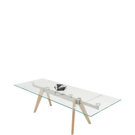 Monza Extendable Glass Dining Table