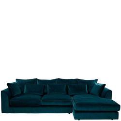 Bossanova Large RHF Chaise Sofa Lumino Teal