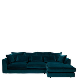 Pleasant Whitemeadow Bossanova Large Lhf Chaise Sofa Lumino Teal Lumino Teal Ncnpc Chair Design For Home Ncnpcorg