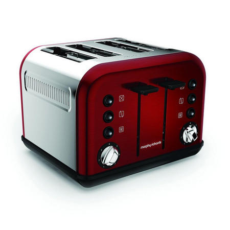 Accents Red 4 Slice Toaster