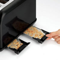 Accents Black 4 Slice Toaster