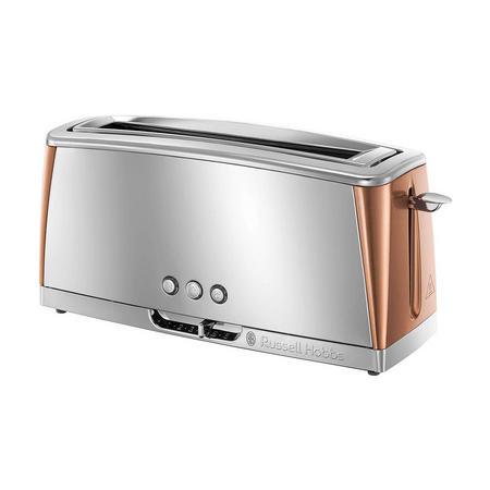 Luna Copper Long Slot Toaster