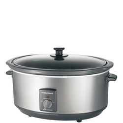Oval Stainless Steel Slow Cooker 6.5L
