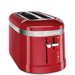Four Slice Long Toaster Empire Red