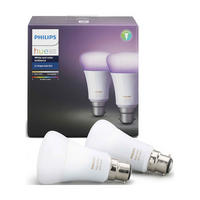 Hue White And Colour Ambiance B22 Twin Pack