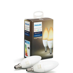 Hue White Ambiance E14 Double Pack