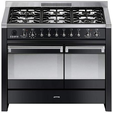 100Cm Gloss Black Dual Cavity Dual Fuel Opera Range Cooker