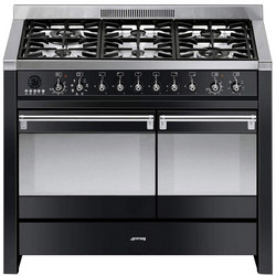 100Cm Gloss Black Dual Cavity Dual Fuel Opera Range Cooker