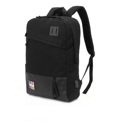 Box Backpack with Power Bank Black