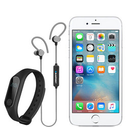 iPhone 6s with Bluetooth Headphones & Fitness Tracker