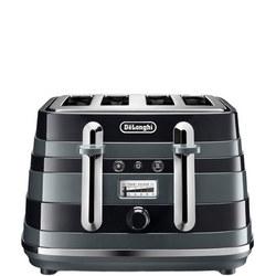 Avvolta 4 Slot Toaster Black