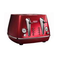 Distinta Flair 4 Slot Toaster, Glamour Red