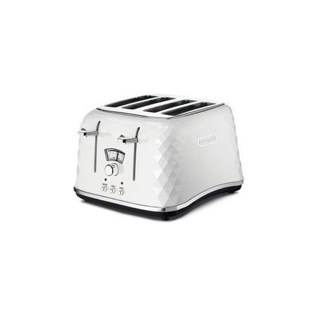 Brillante Ice White 4 Slice Toaster
