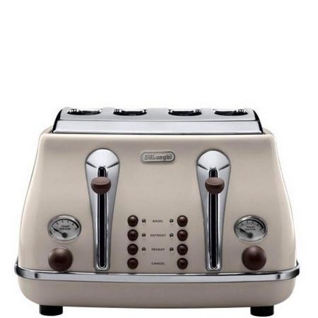 Toaster 4 Slice Vintage Beige
