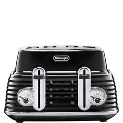 Scultura Four Slice Toaster Black