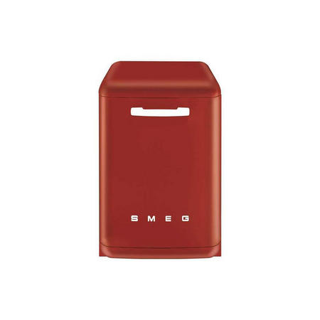 60Cm Red 50'S Style Freestanding Dishwasher