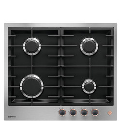 60cm 4 Burner Gas Hob with Cast Iron Pan Supports