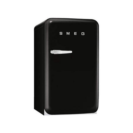 55Cm Black Small 50'S Style Rh Hinged Fridge With Icebox