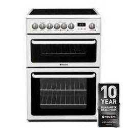Electric Double Oven Cooker With Ceramic Hob - HAE60PS