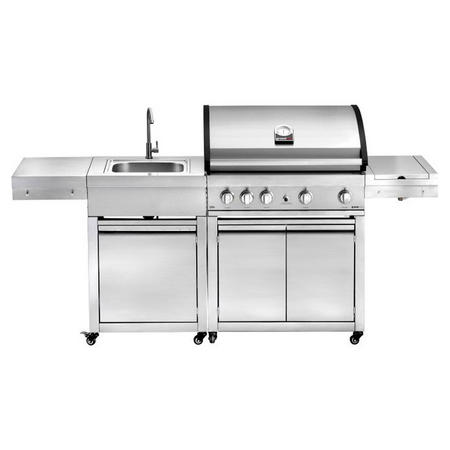 Elite G4, Free Standing Gas BBQ With Sink