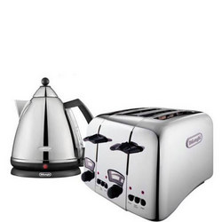 Argento Kettle & Toaster Set Silver