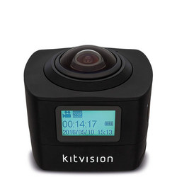 360 Immerse Action Camera With Built-In Wi-Fi