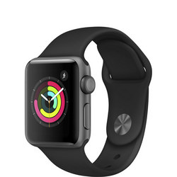 Watch Series 3 GPS 38mm Space Grey Aluminium Case with Black Sport Band