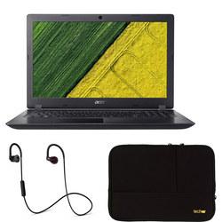 Aspire 3, 4GB RAM, 1TB Laptop with Headphones and Laptop Sleeve Bundle