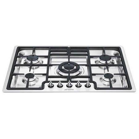 70Cm Stainless Steel Classic 5 Burner Ultra Low Profile Gas Hob