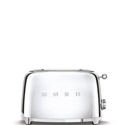 50's Retro Style Aesthetic 2 Slice Toaster Stainless Steel