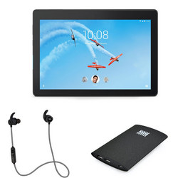"""Tab E10 10.1"""" 16GB Wi-Fi Tablet with Headphones and Box Smartphone Charger Bundle"""