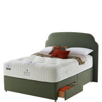 BWC Two Drawer Divan Set With Firm Tension Super King Mattress Moss